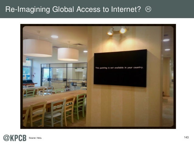 143 Re-Imagining Global Access to Internet?  Source: Hola.