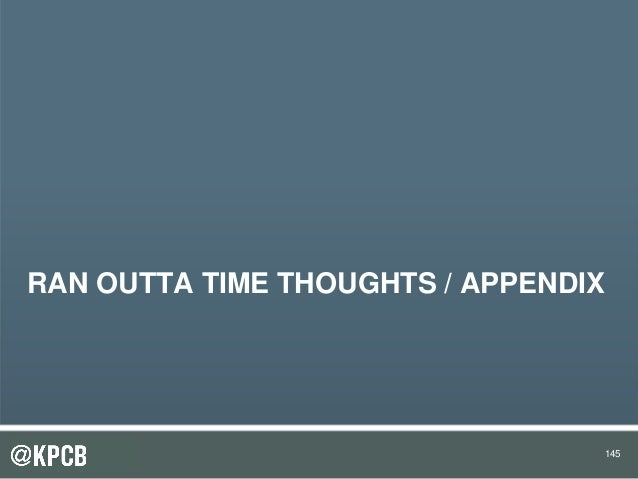 145 RAN OUTTA TIME THOUGHTS / APPENDIX 145