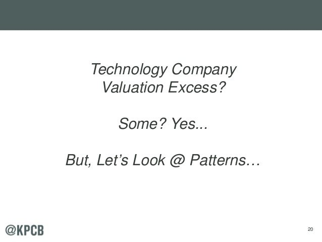 20 Technology Company Valuation Excess? Some? Yes... But, Let's Look @ Patterns…