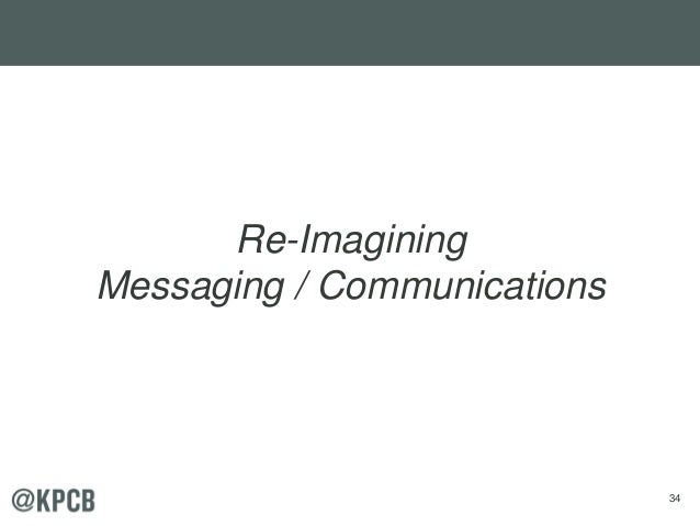 34 Re-Imagining Messaging / Communications