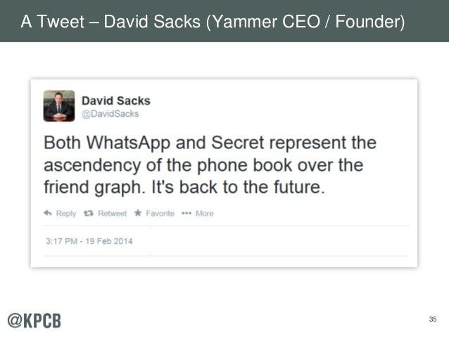 35 A Tweet – David Sacks (Yammer CEO / Founder)