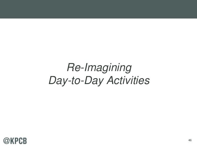 46 Re-Imagining Day-to-Day Activities