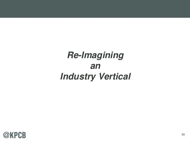 54 Re-Imagining an Industry Vertical