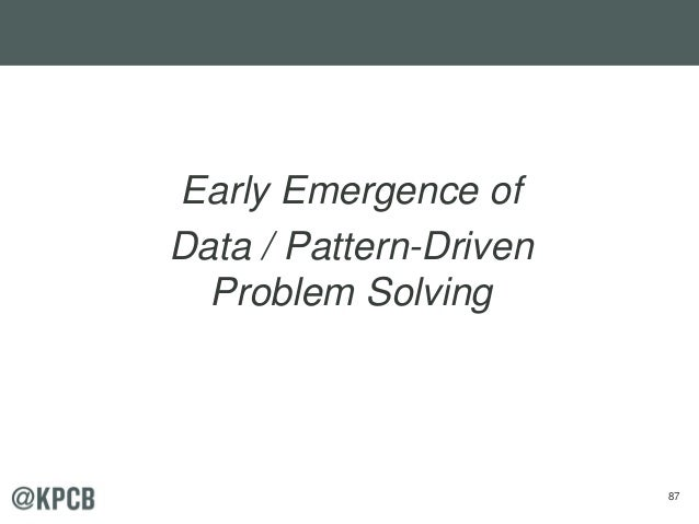 87 Early Emergence of Data / Pattern-Driven Problem Solving