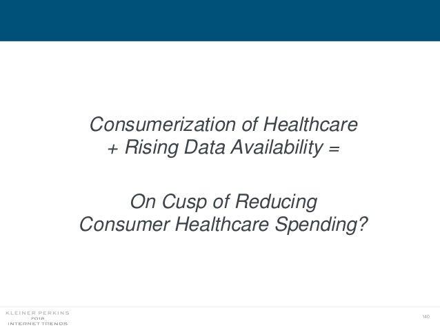 140 Consumerization of Healthcare + Rising Data Availability = On Cusp of Reducing Consumer Healthcare Spending?