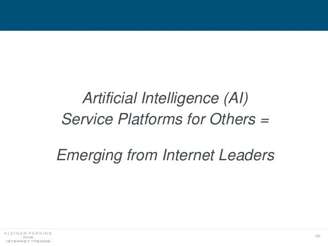 198 Artificial Intelligence (AI) Service Platforms for Others = Emerging from Internet Leaders