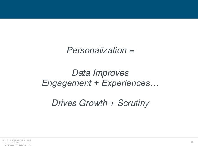 28 Personalization = Data Improves Engagement + Experiences… Drives Growth + Scrutiny