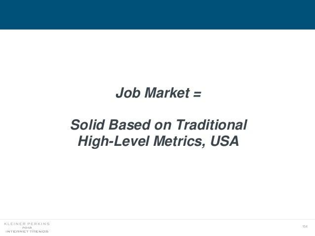 154 Job Market = Solid Based on Traditional High-Level Metrics, USA
