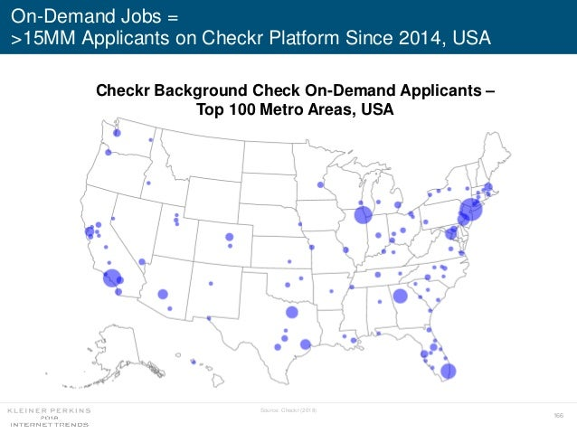 166 On-Demand Jobs = >15MM Applicants on Checkr Platform Since 2014, USA Checkr Background Check On-Demand Applicants – To...