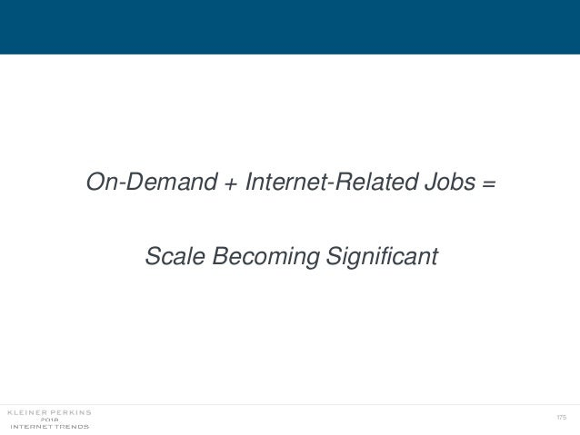 175 On-Demand + Internet-Related Jobs = Scale Becoming Significant