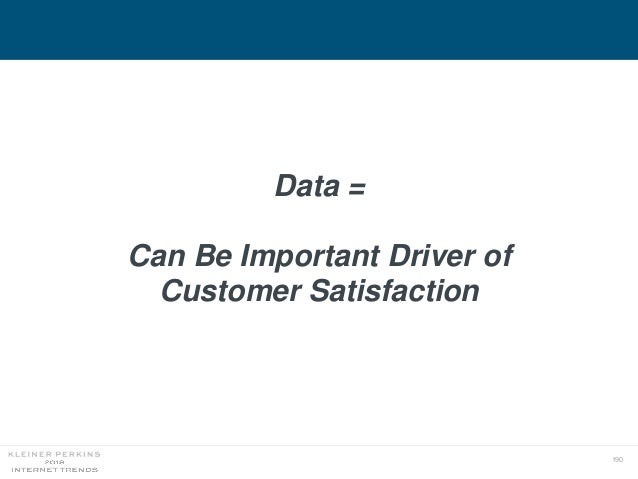 190 Data = Can Be Important Driver of Customer Satisfaction