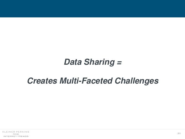 203 Data Sharing = Creates Multi-Faceted Challenges