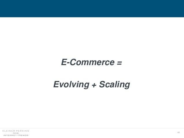 48 E-Commerce = Evolving + Scaling