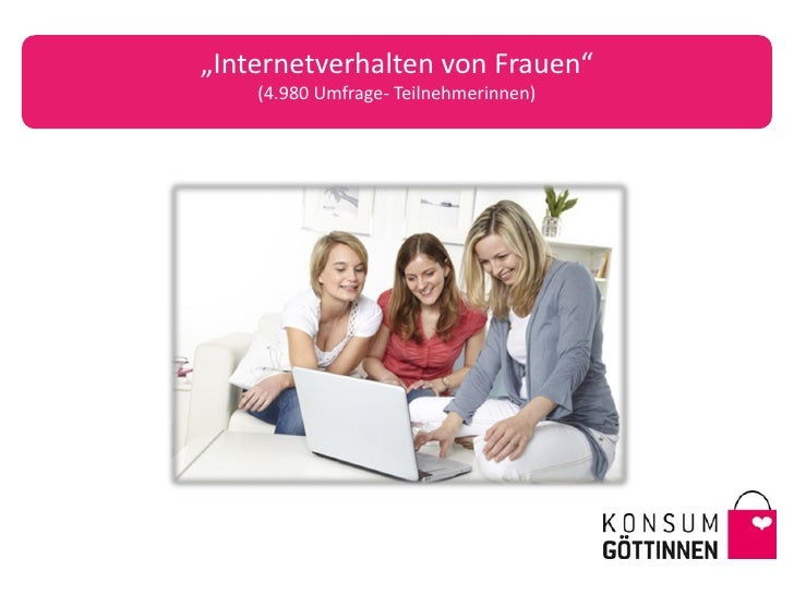 """""""Internetverhalten von Frauen""""    (4.980 Umfrage- Teilnehmerinnen)"""