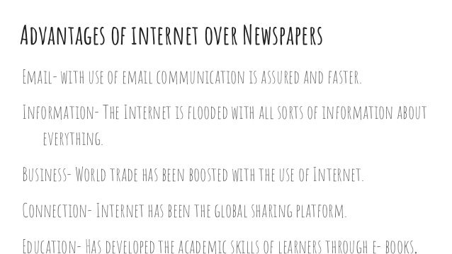 internet vs newspaper presentation