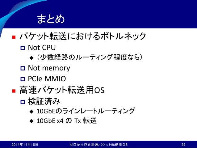ゼロから作るパケット転送用OS (Internet Week 2014)