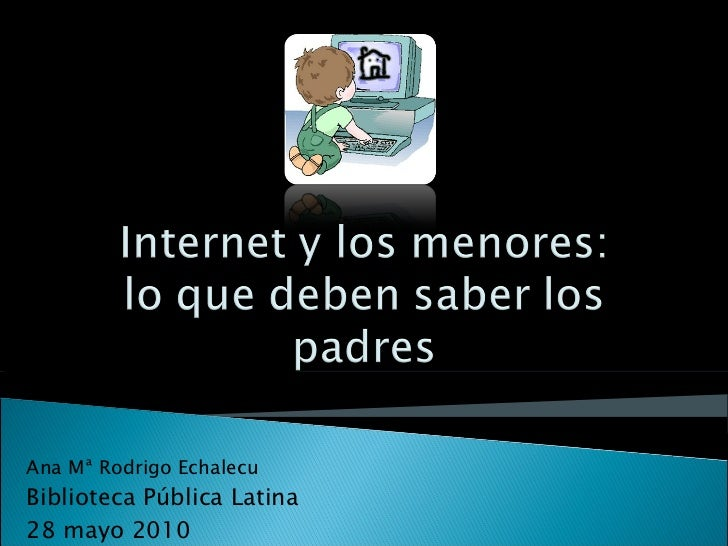 Ana Mª Rodrigo Echalecu Biblioteca Pública Latina 28 mayo 2010