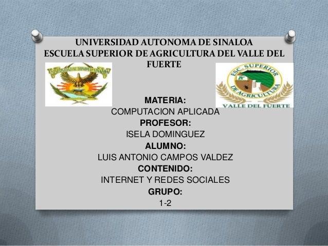 UNIVERSIDAD AUTONOMA DE SINALOAESCUELA SUPERIOR DE AGRICULTURA DEL VALLE DEL                   FUERTE                    M...