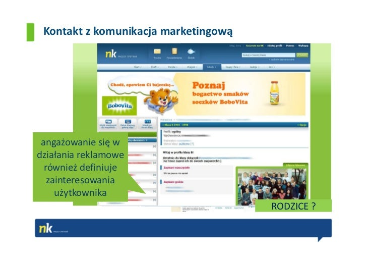 Kontakt z komunikacja marketingową angażowanie się wdziałania reklamowe  również definiuje   zainteresowania     użytkowni...