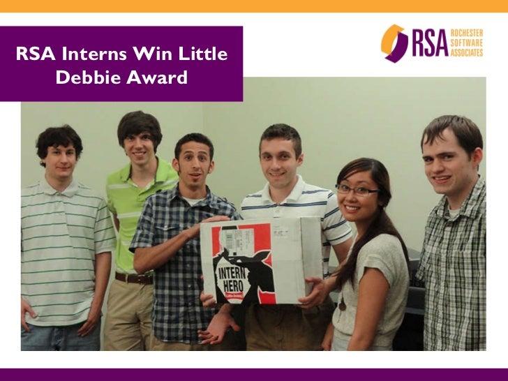 RSA Interns Win Little Debbie Award