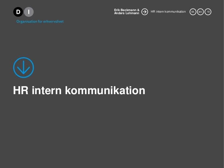 HR intern kommunikation<br />