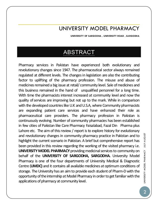 Short application essay for pharmacy school