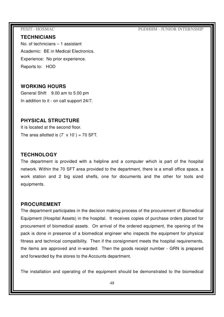 Internship At Sagar Hospital Final Report 2008-09 By Rijo Stephen Cl…