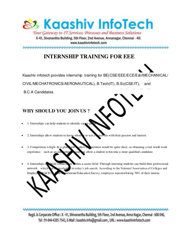internship in chennai for eee in network configuration