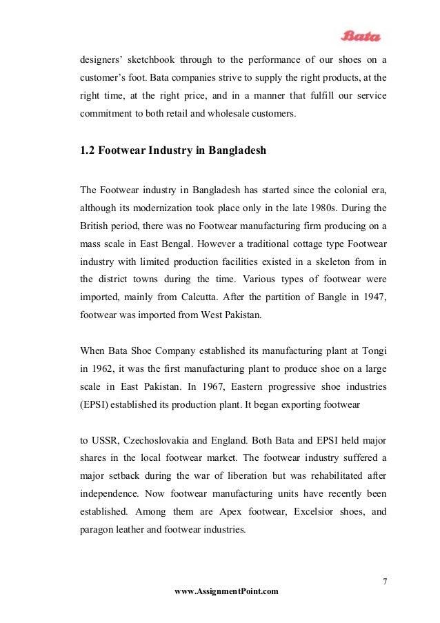 internship report on bata shoe company bangladesh limited Internship report on bata shoe company bangladesh limited view tapash kumar  roy's profile industrial attachment at bata shoe company,bangladesh industrail.