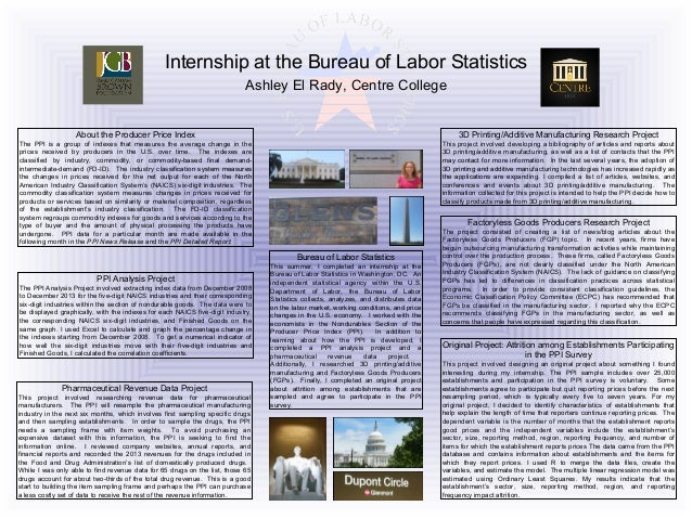 internship at the bureau of labor statistics by ashley el rady. Black Bedroom Furniture Sets. Home Design Ideas