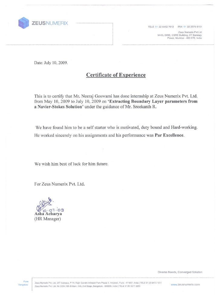 Format For Writing Industrial Training Letter Sample Of Formal