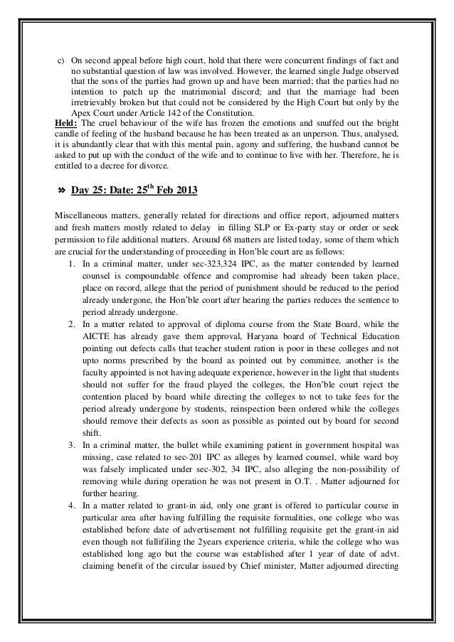 Internship diary by ronak