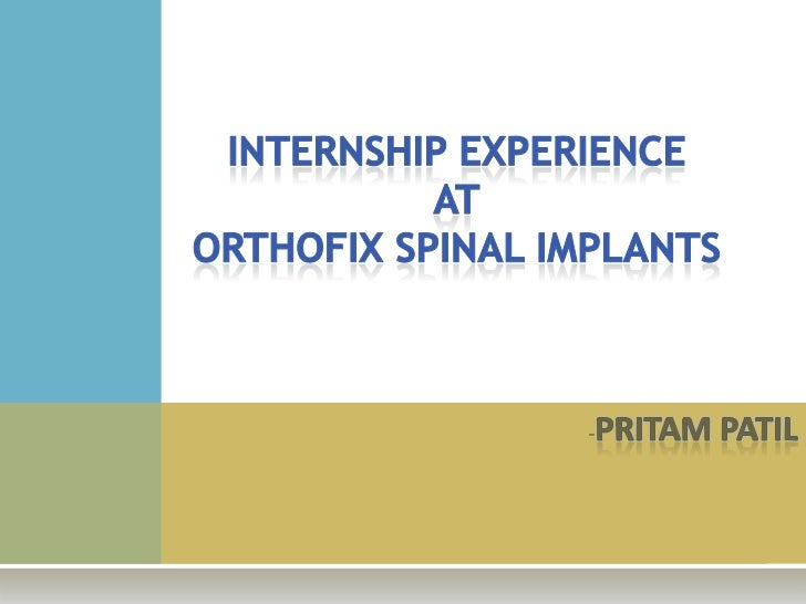    A diversified orthopedic product company with 3    major divisions:   Orthopedic: Bone growth stimulators, Mini fixat...