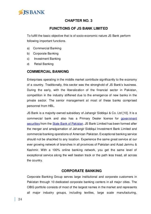 Internship Report of JS Bank