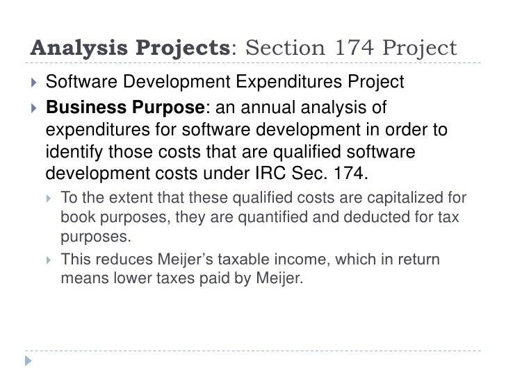 Meijer Corporate Tax Intern Final Presentation