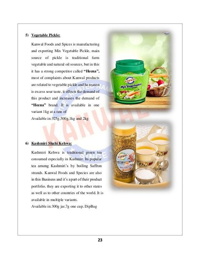 KANWAL FOODS AND SPICES PVT LTD( JAMMU AND KASHMIR)