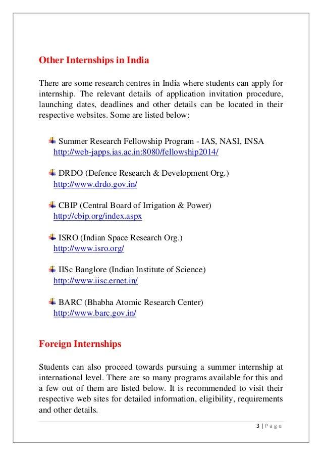 internships for it