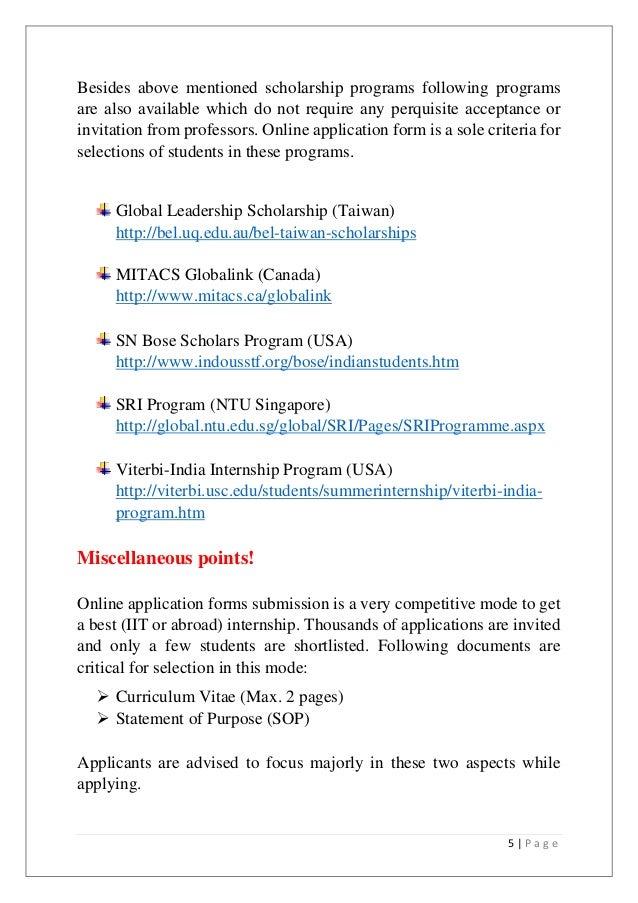 how to prepare cv for internship
