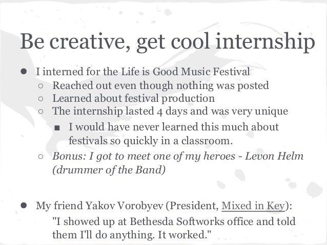 how to get a internship