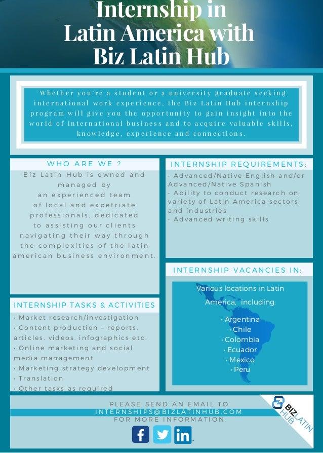 Internship in Latin America - Biz Latin Hub