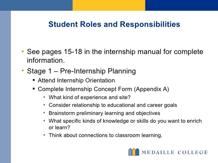Internship manual.