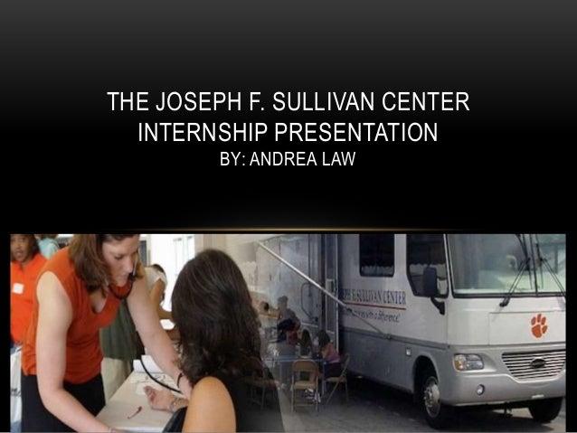 Internship powerpoint for portfolio