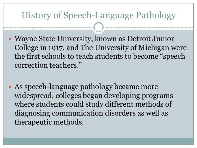 speech pathology career