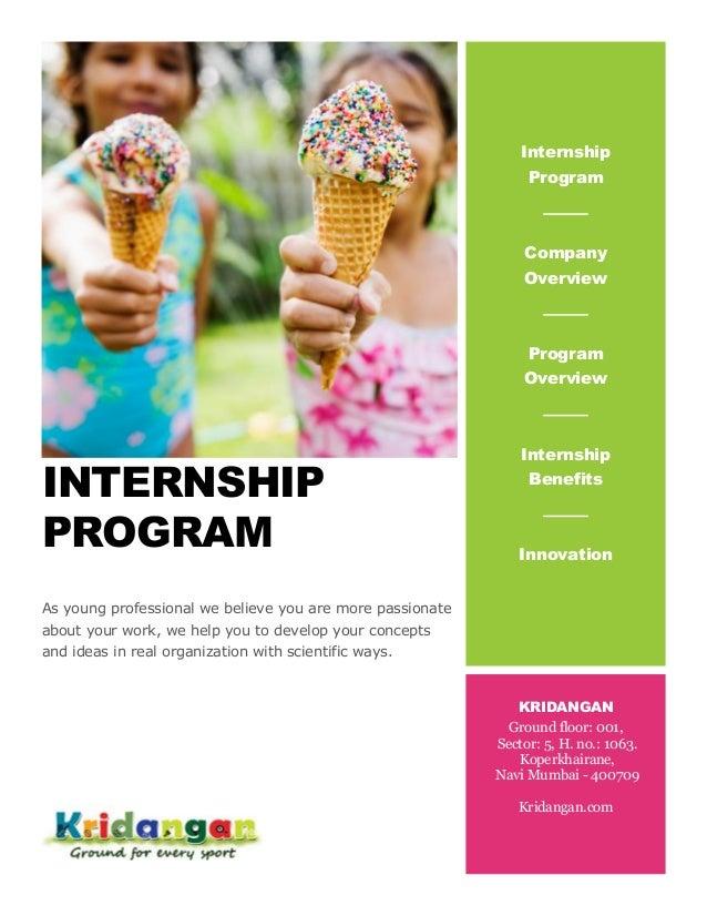 Sports Writer Social Media Internship Program Brochure
