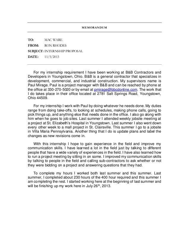 intern proposal
