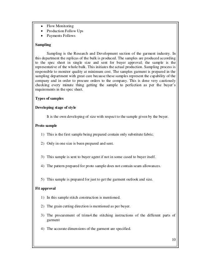 fashion internship report
