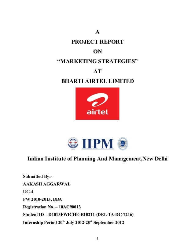 """A                        PROJECT REPORT                                    ON                 """"MARKETING STRATEGIES""""      ..."""