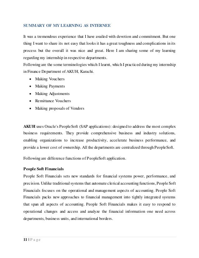 9+ Internship Report Examples & Samples – PDF