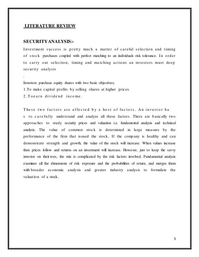 review of literature on equity analysis share price movement 22 theoretical literature review   this research thesis sought to find out the  factors influencing the stock prices in the nairobi securities  the literature is  that systematic post announcement change in share prices is associated with the .