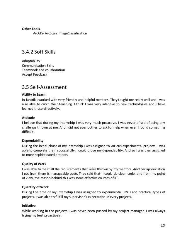 experimental reporting skills